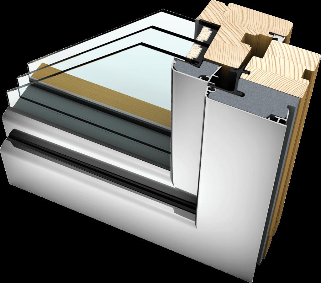 hf 310 timber aluminium commercial windows