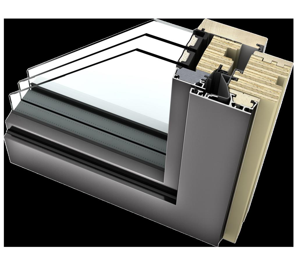 HF 400 Timber Aluminium Windows