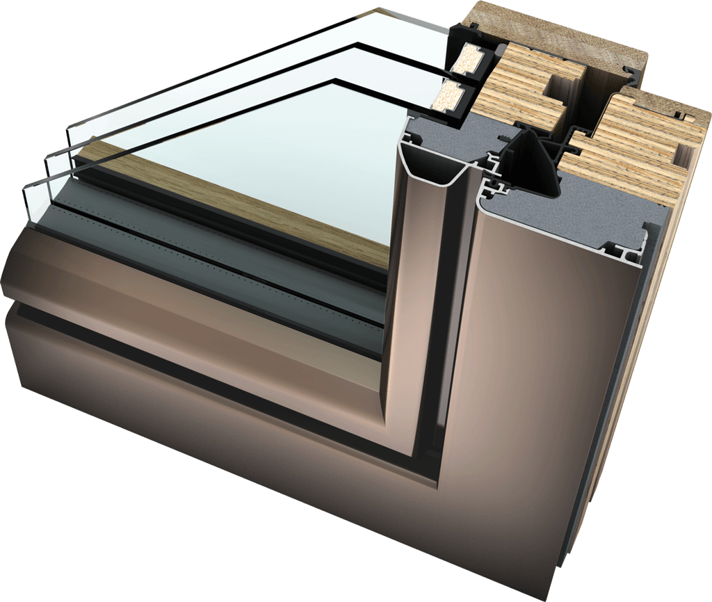 HF 410 Timber Aluminium Windows
