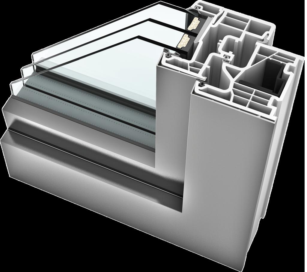 KS 310 uPVC Aluminium Windows