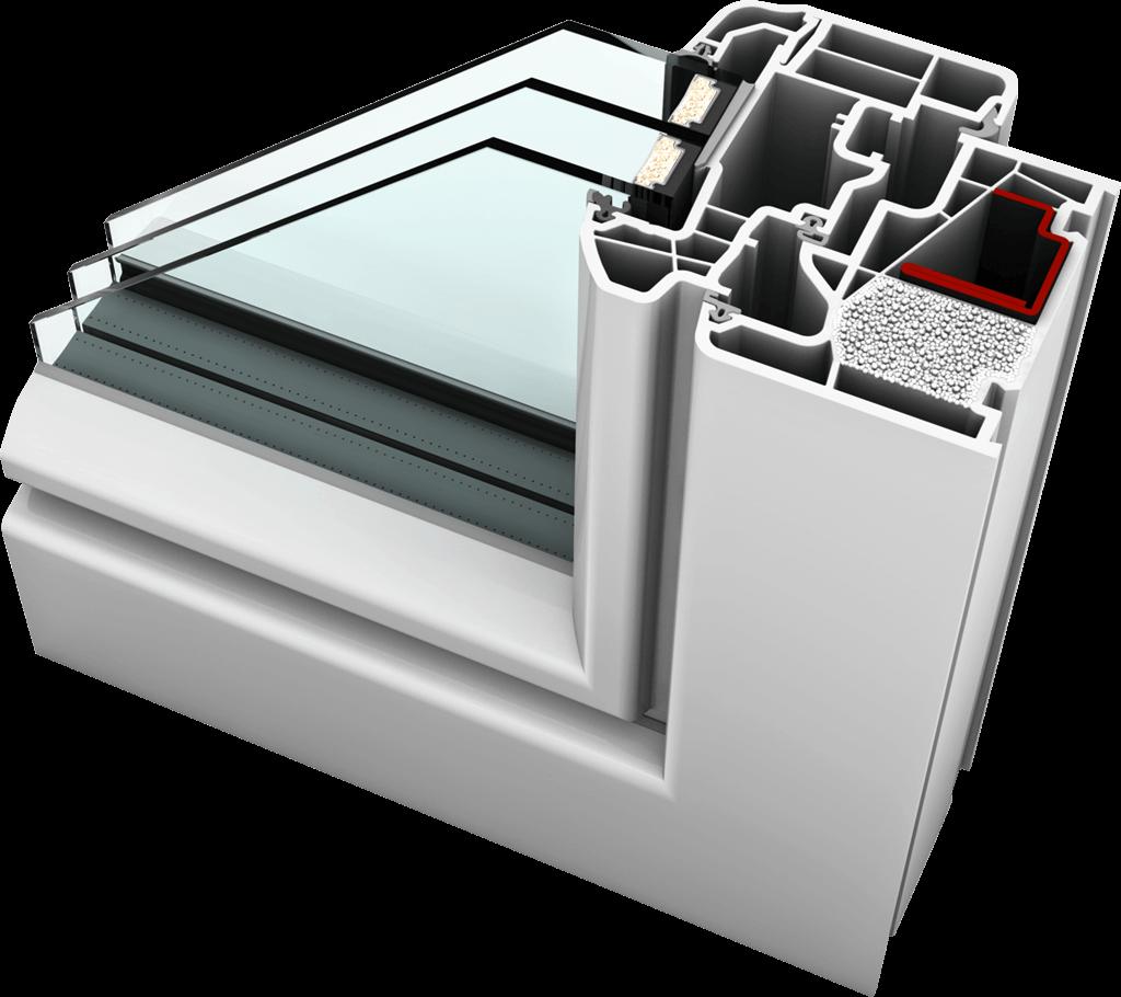 kf 410 windows with insulating granulate