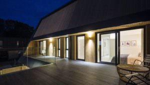 New Build Property Lift Slide Doors Somerset